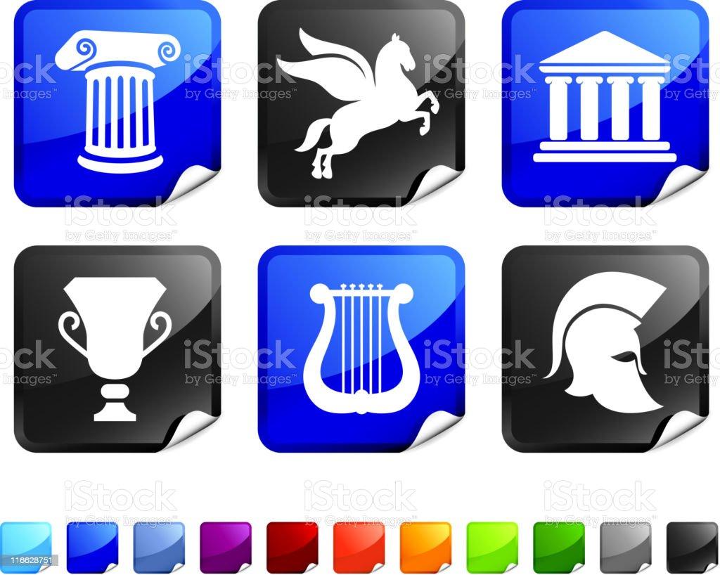 Greek and Roman culture set royalty-free stock vector art