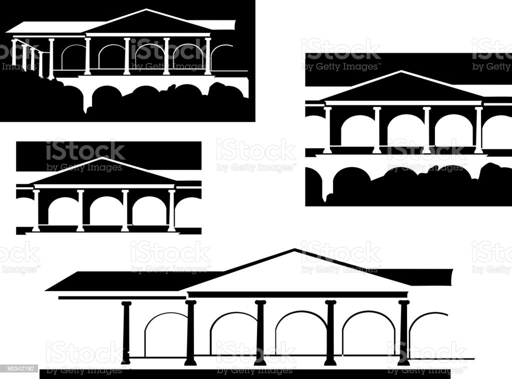 Greek architecture royalty-free stock vector art