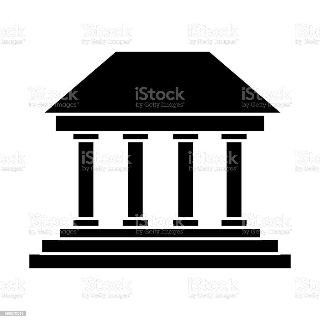 Greek Building Symbol Stock Vector Art More Images Of Ancient
