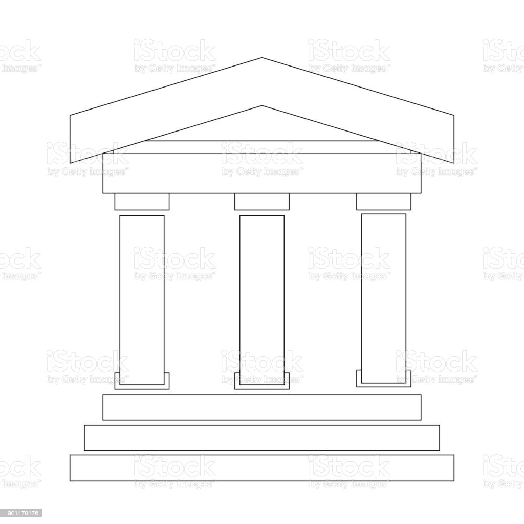 Greek building vector illustration векторная иллюстрация