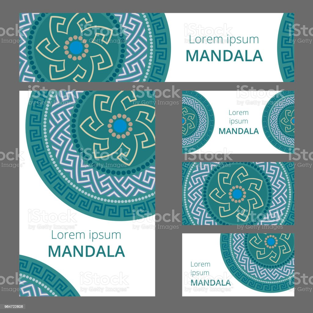 Greek circular pattern design template. May be used for Business card or booklet, banner, book cover. Vector illustration. royalty-free greek circular pattern design template may be used for business card or booklet banner book cover vector illustration stock vector art & more images of abstract