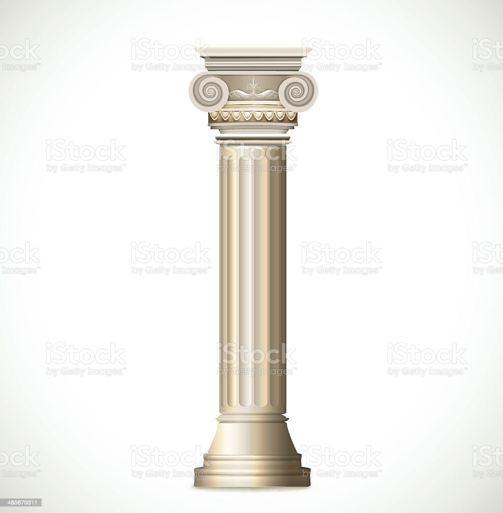 Greek Column Isolated On White Background Vector Stock ...