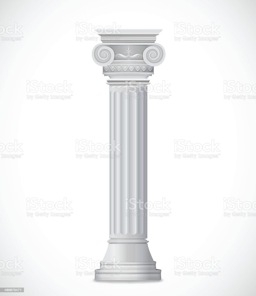 Greek Column isolated on white background. Vector royalty-free stock vector art