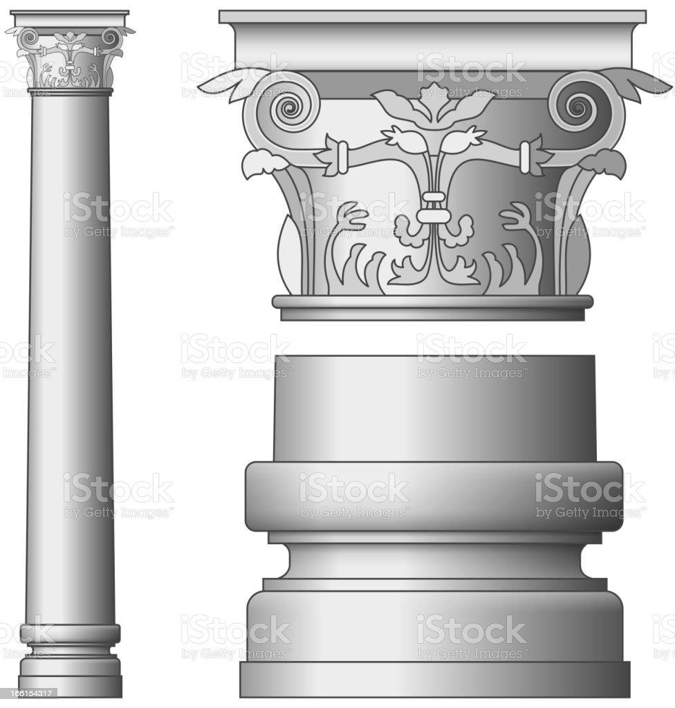 Greek Column royalty-free greek column stock vector art & more images of architectural column