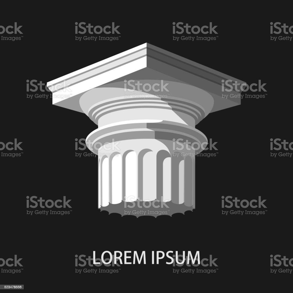Greek column. vector art illustration