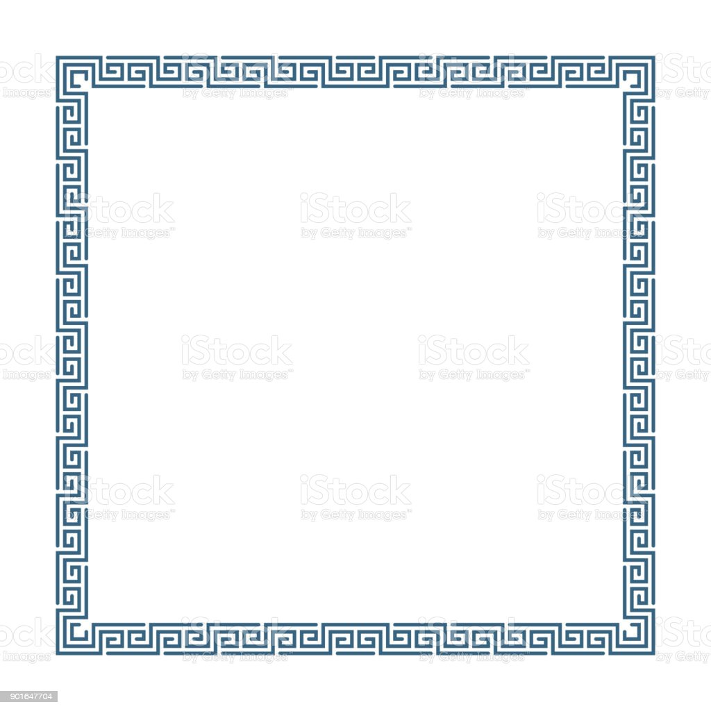 Quadro decorativo grego. - ilustração de arte em vetor