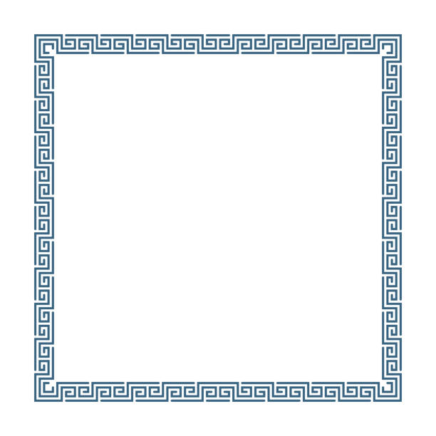 greek decorative frame. - architecture borders stock illustrations