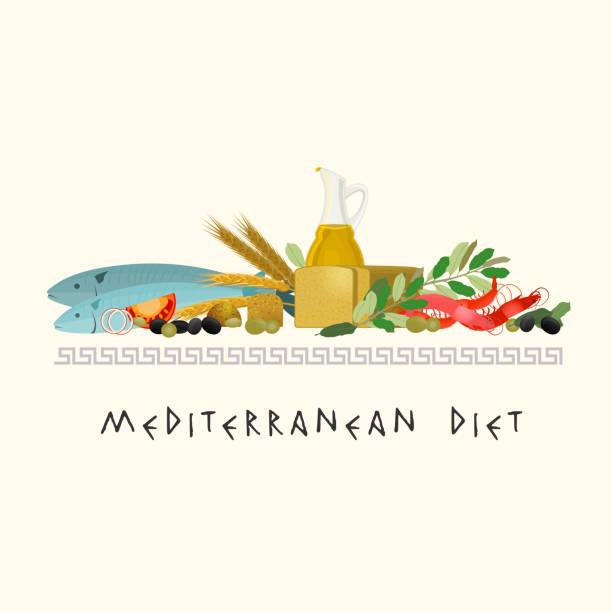 ilustrações de stock, clip art, desenhos animados e ícones de grego dieta imagem - mediterranean food