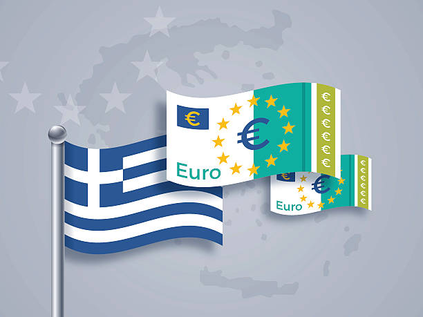 Grec Euro crise - Illustration vectorielle
