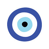 Greek evil eye vector - symbol or icon of protection