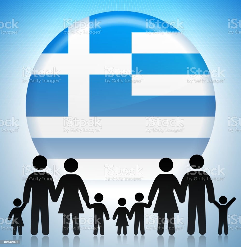 Greek Family Concept Stick Figures royalty-free greek family concept stick figures stock vector art & more images of adoption