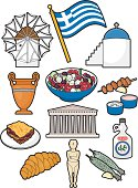 A selection of Greek food, drink and cultural elements. Click below for more food and drink images