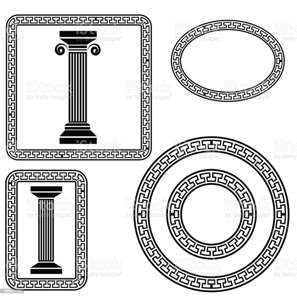 Greek frame symbols stock vector art more images of ancient greek frame symbols royalty free greek frame symbols stock vector art amp more images biocorpaavc