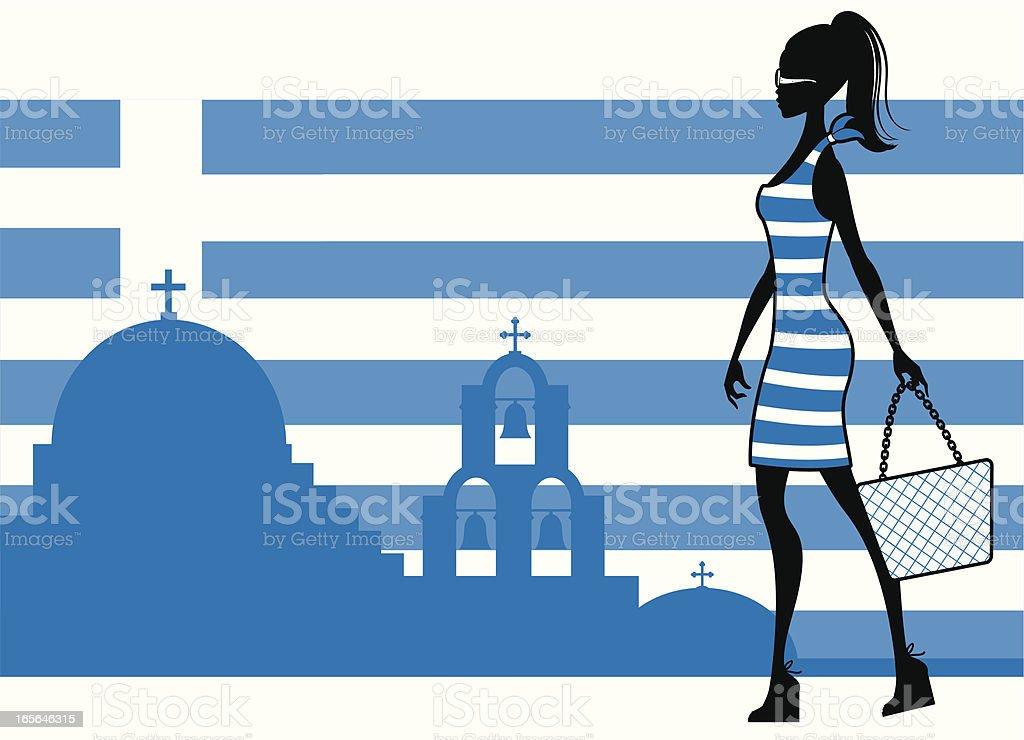 Greek Girl royalty-free stock vector art