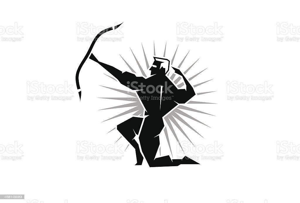 Greek God Apollo vector art illustration
