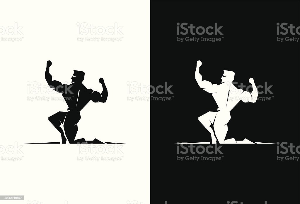 Greek God Heracles back view royalty-free stock vector art