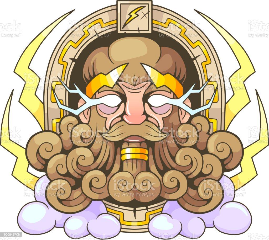 Greek God Thunderer Zeus Stock Vector Art More Images Of Beard
