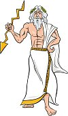 greek god zeus cartoon illustration