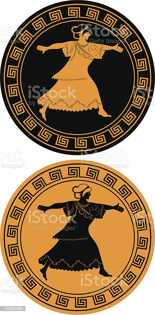 Greek goddess royalty-free stock vector art