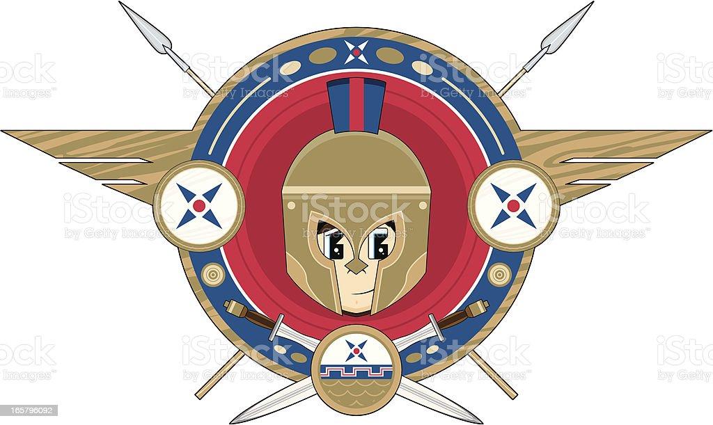 Greek Hoplite Soldier Badge royalty-free greek hoplite soldier badge stock vector art & more images of ancient greece