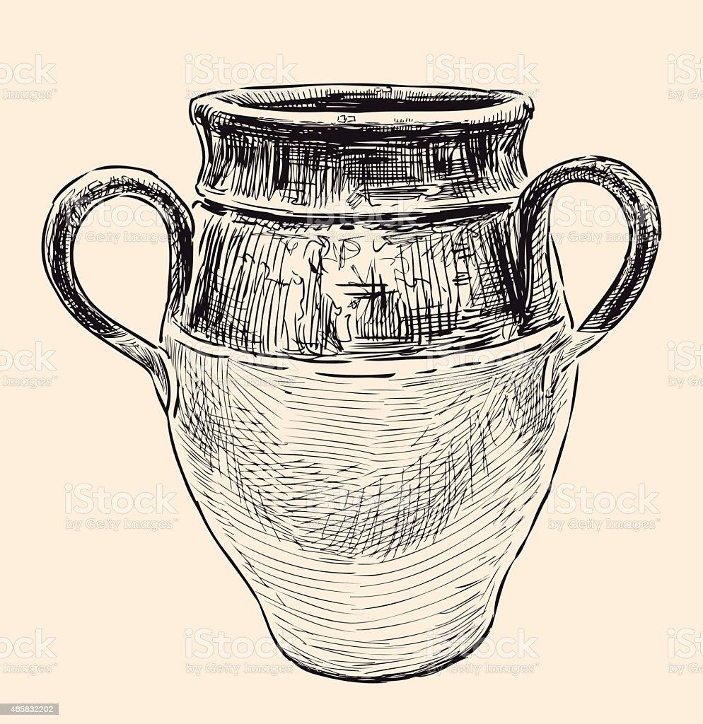Jarra griego - ilustración de arte vectorial