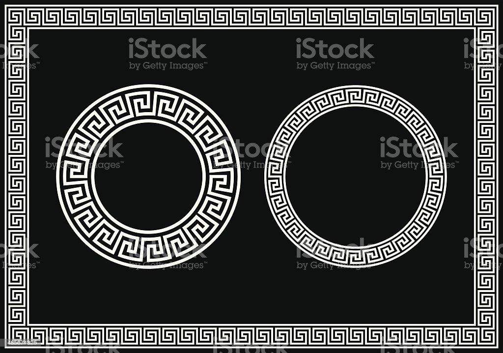 Greek Key Pattern vector art illustration