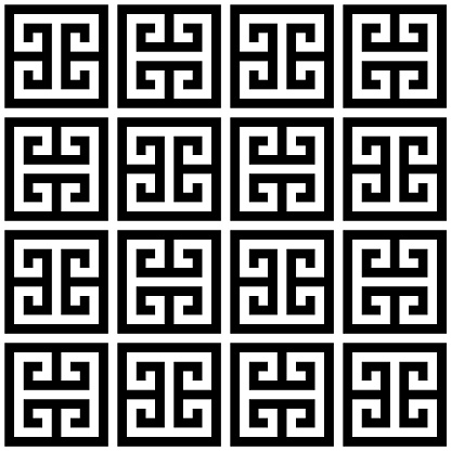 Greek key seamless vector geometric pattern inspired by ancient Greece pottery and ceramics art