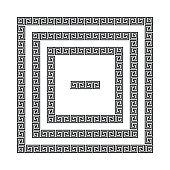 Greek meander frames, vector
