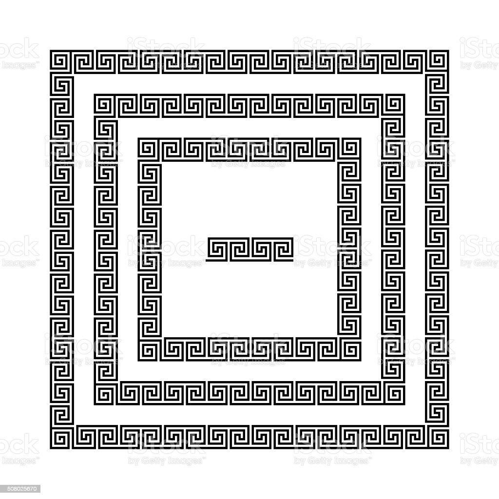Greek meander frames, vector vector art illustration