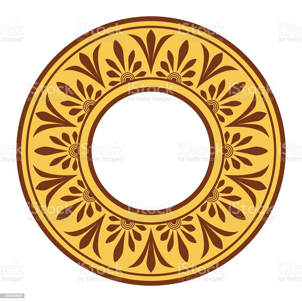Greek national antique round pattern, vector. vector art illustration