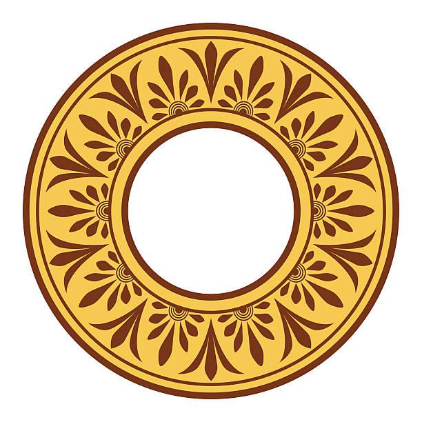 Greek national antique round pattern, vector. vector art illustration