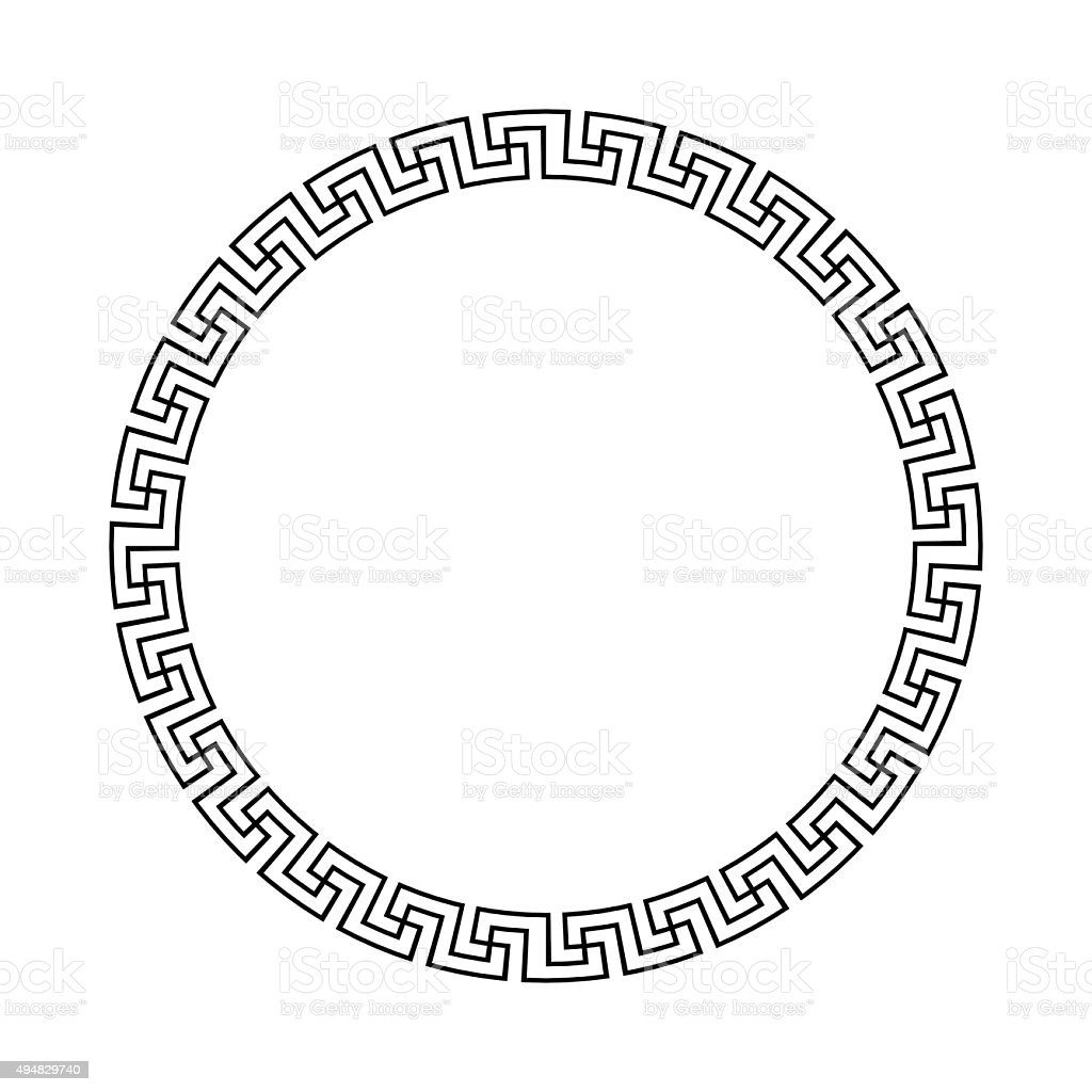 Greek national antique round pattern vector stock vector art greek national antique round pattern vector royalty free greek national antique round pattern biocorpaavc Image collections