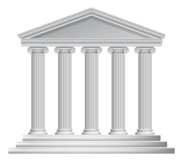 bildbanksillustrationer, clip art samt tecknat material och ikoner med grekiska eller romerska templet kolumner - ancient white background