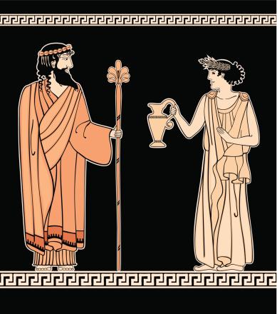 Greek ornament Women and men