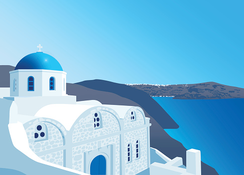 Greek Orthodox church at Santorini island