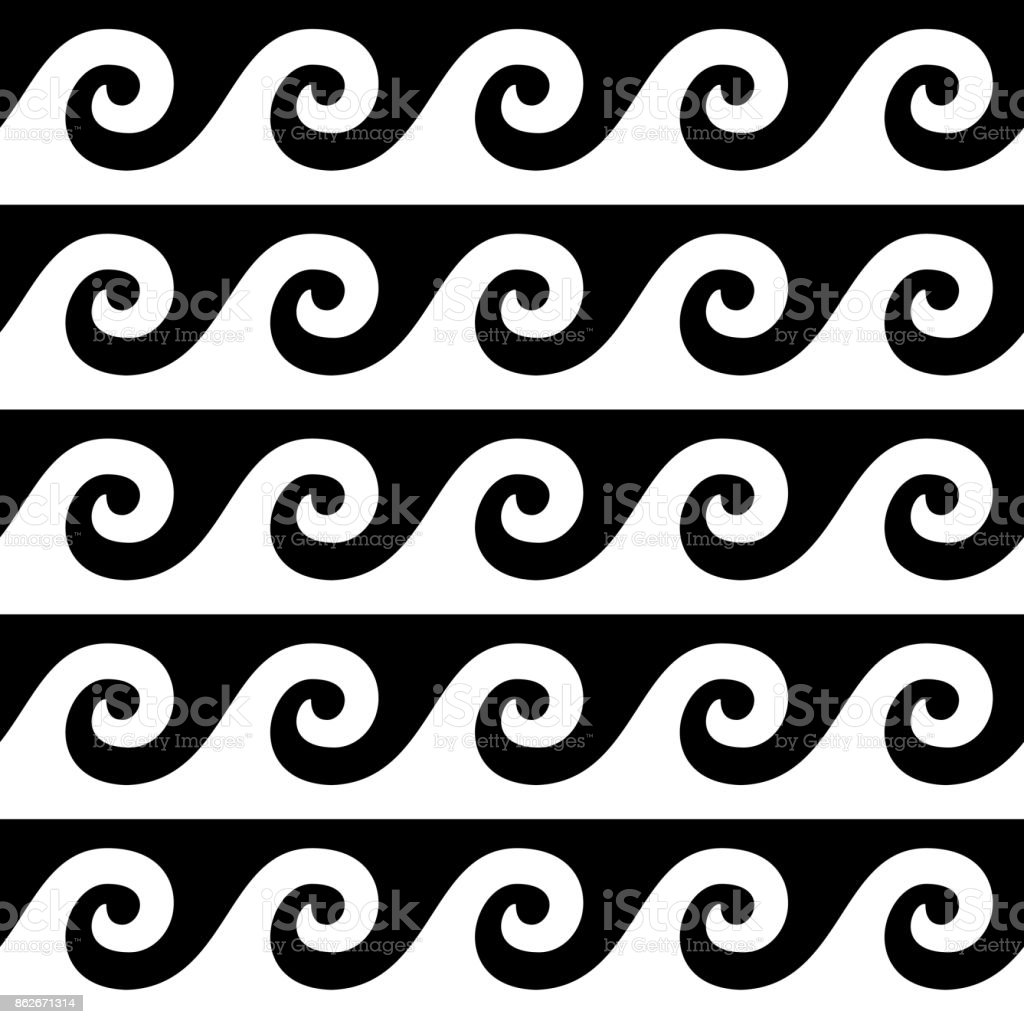 Greek pattern vector seamless design ancient vase waves wallpaper greek pattern vector seamless design ancient vase waves wallpaper in black and white royalty reviewsmspy