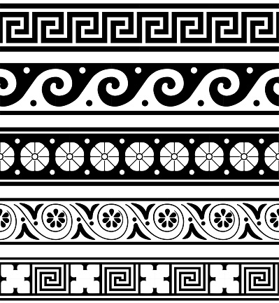 Greek Pottery Pattern Collection