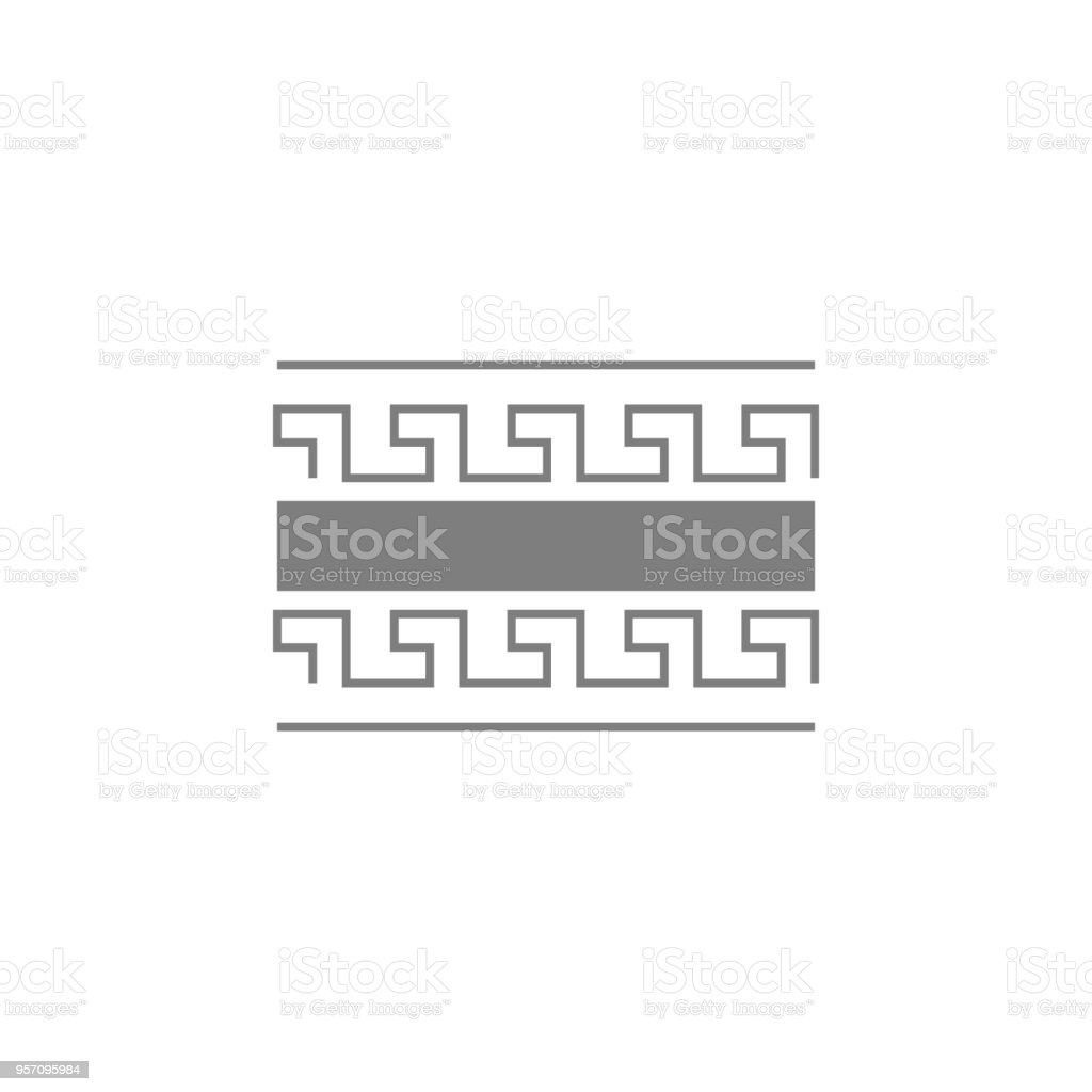 Greek style frame ornament icon. Web Icon. Premium quality graphic design. Signs, outline symbols collection, simple icon for websites, web design, mobile app vector art illustration