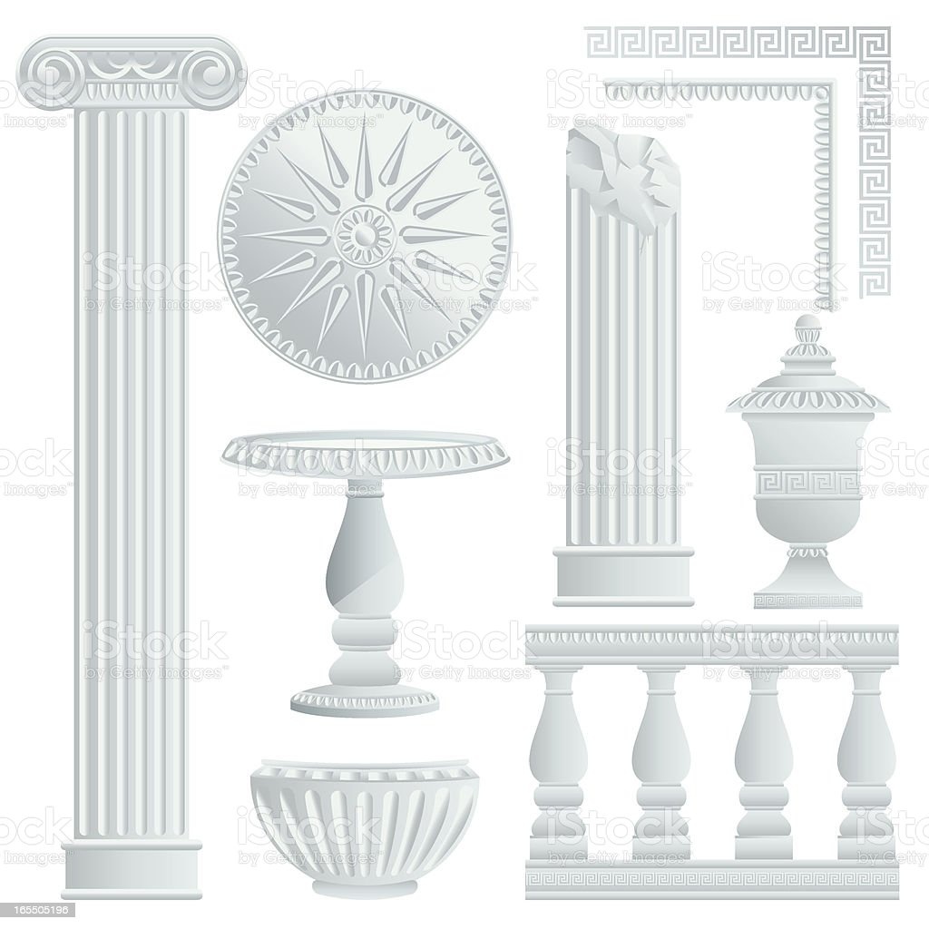 Greek/Roman Architecture Elements royalty-free stock vector art