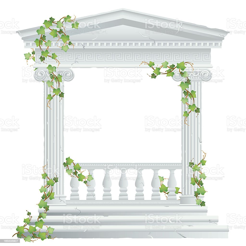 Greek/Roman Ruin with Ivy royalty-free stock vector art