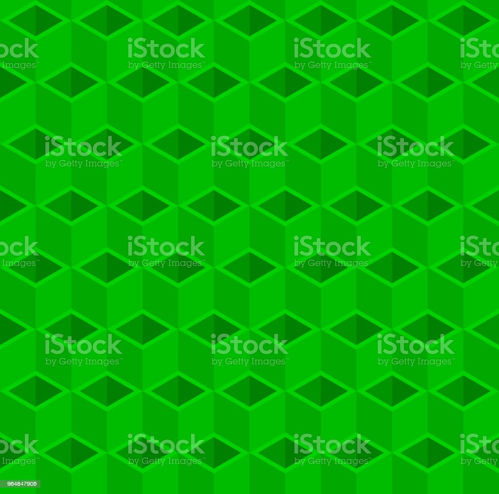 Green 3D cube illustration background. royalty-free green 3d cube illustration background stock illustration - download image now
