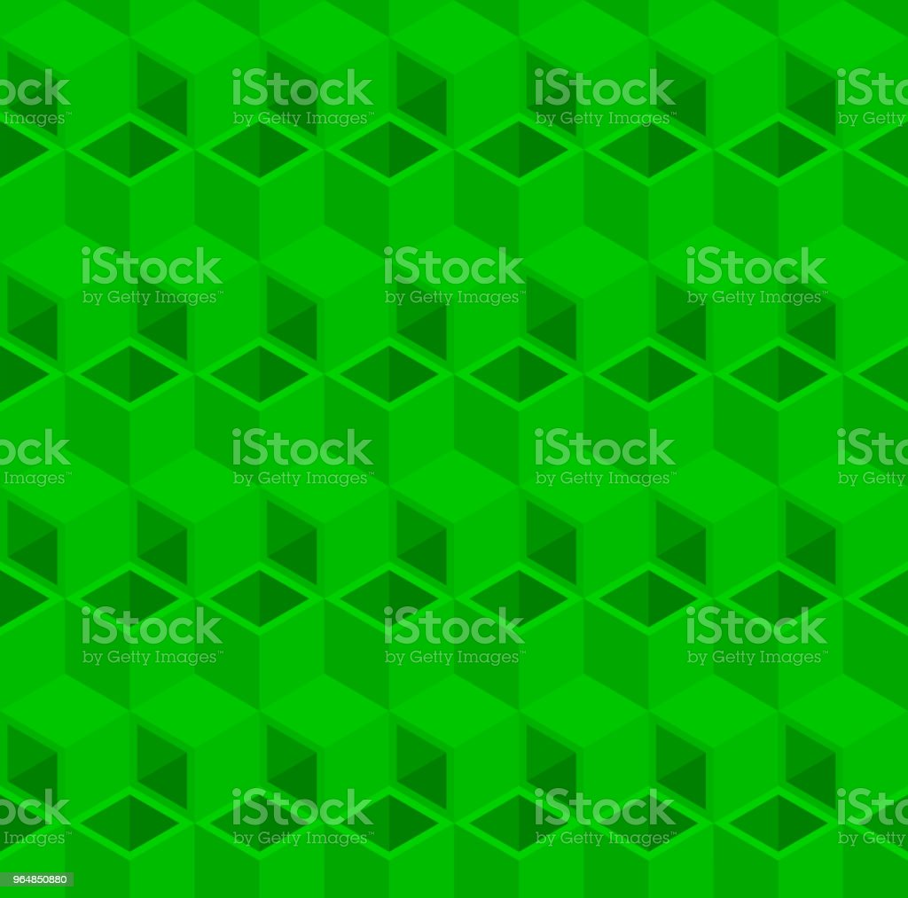 Green 3D cube illustration background. royalty-free green 3d cube illustration background stock vector art & more images of abstract