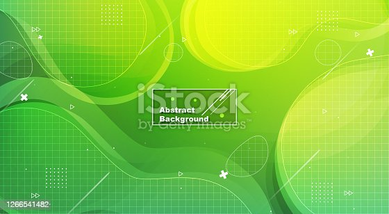 Dynamic Green Abstract background with fluid shapes modern concept