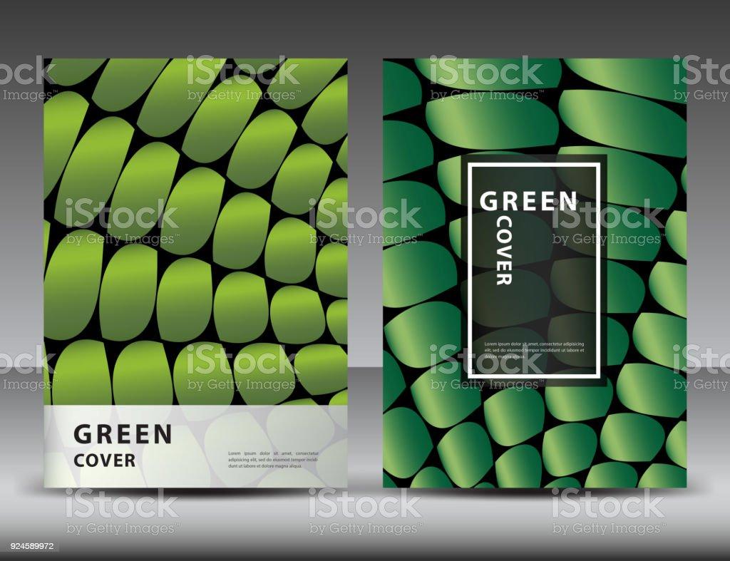 Fondo Verde Abstracto Para El Diseño De La Cubierta Plantilla De ...