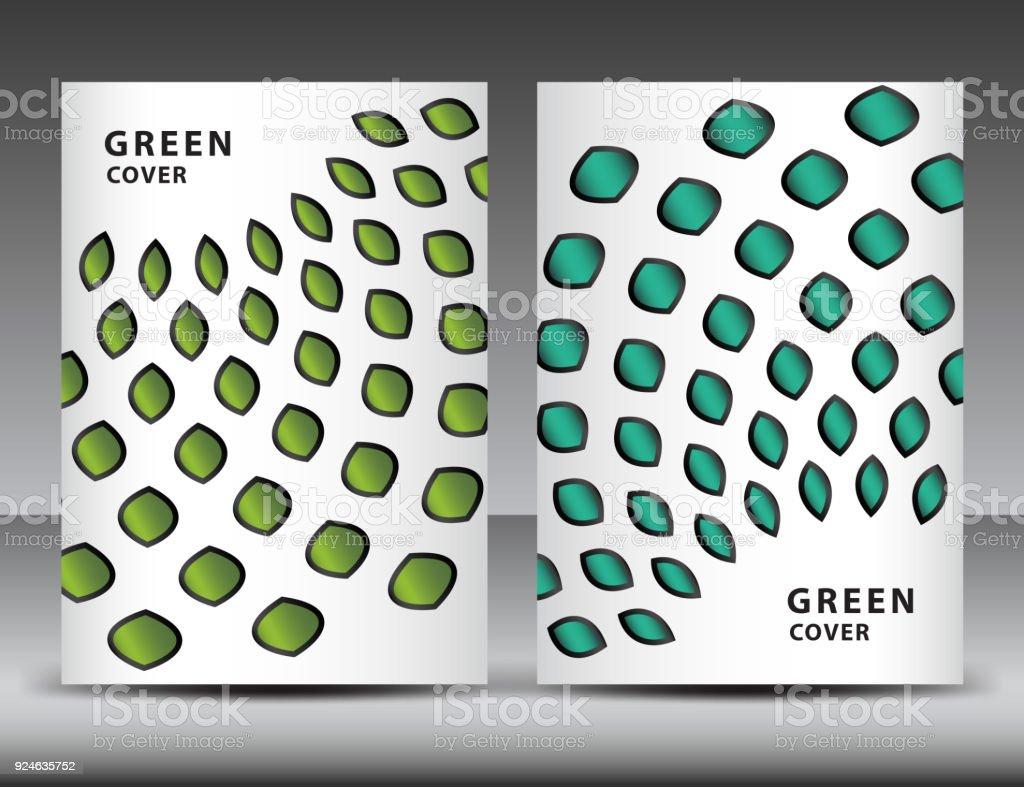 Abstrakt Grün Hintergrund Für Coverdesign Annual Reportvorlage ...