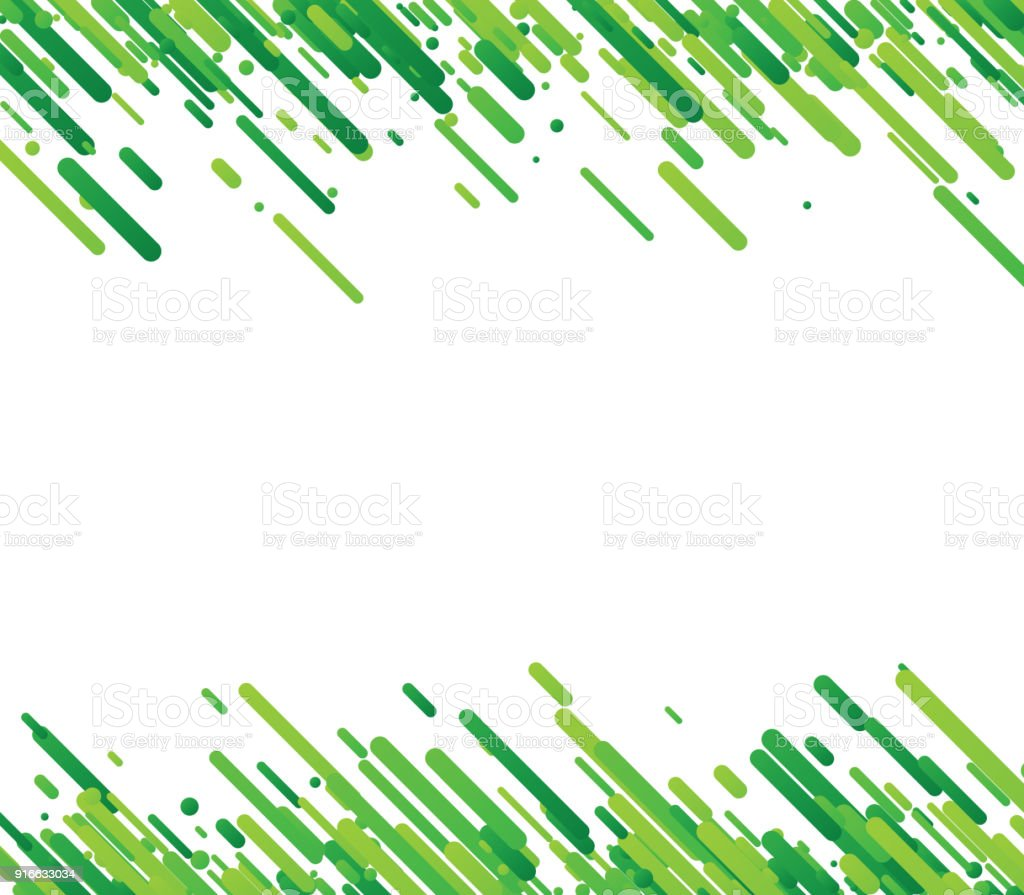 Green Abstract Background On White Stock Illustration