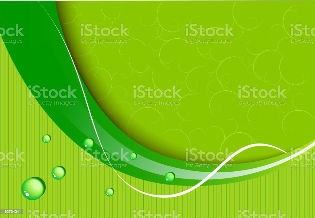 Green abstract background royalty-free stock vector art