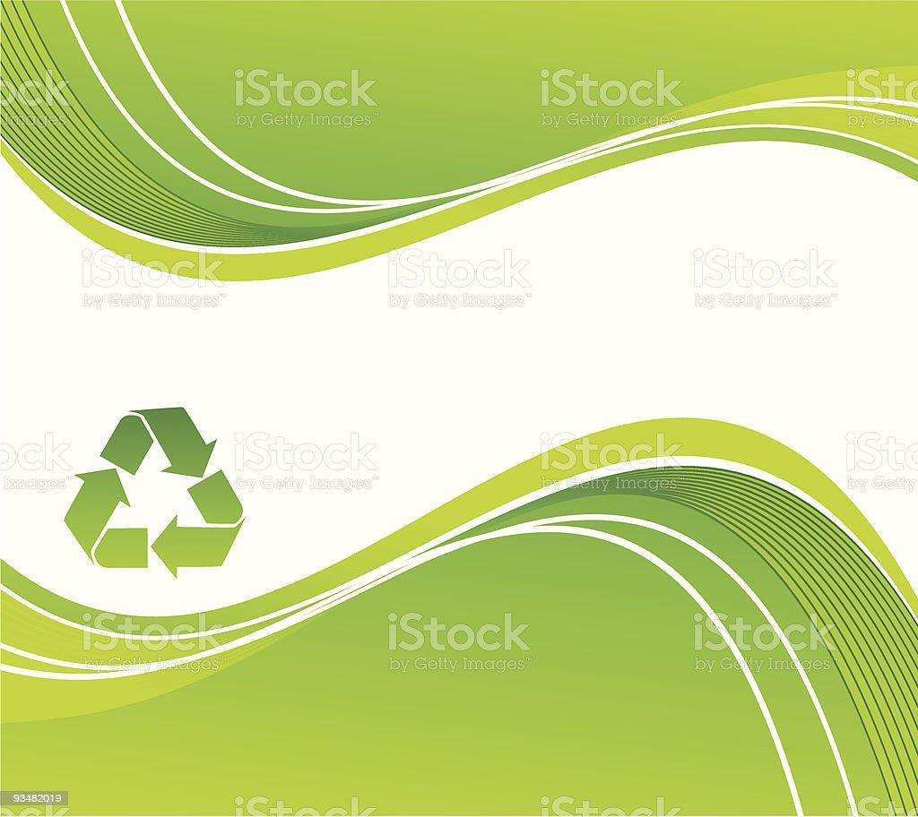 녹색 추상적인 배경 - 로열티 프리 0명 벡터 아트