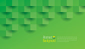 Green abstract background vector.