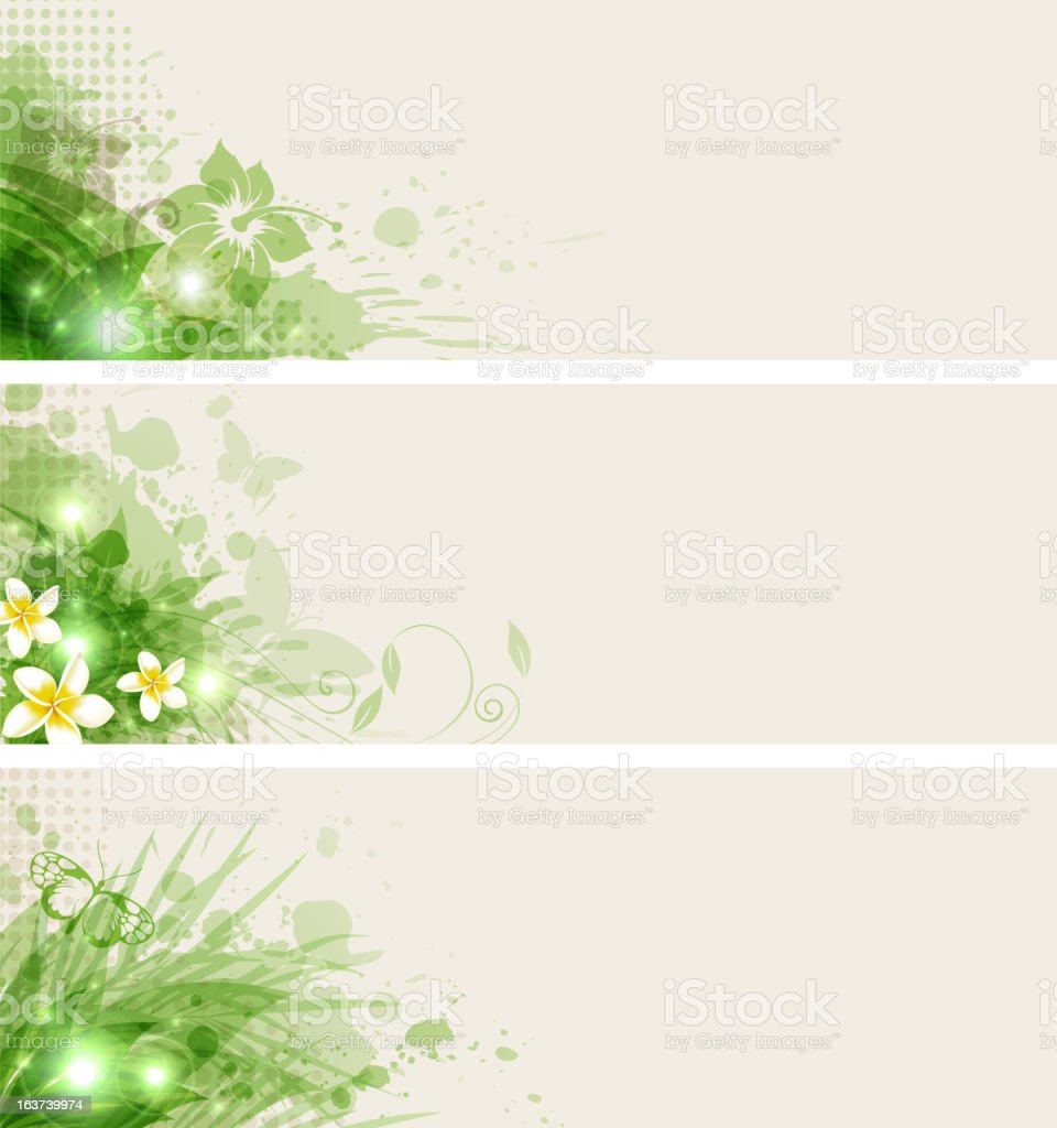 Green abstract banners